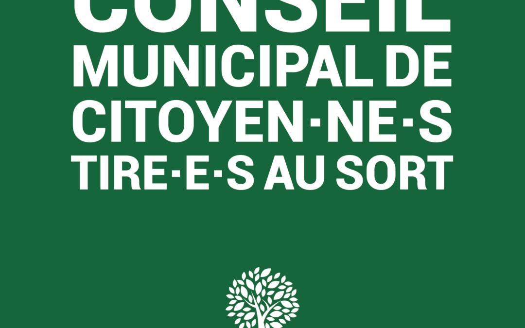 Un Conseil municipal citoyen