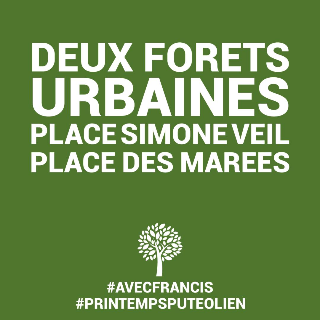 Création de deux forêts urbaines
