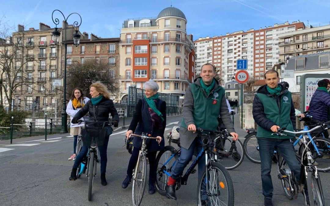 Une balade à vélo de sensibilisation