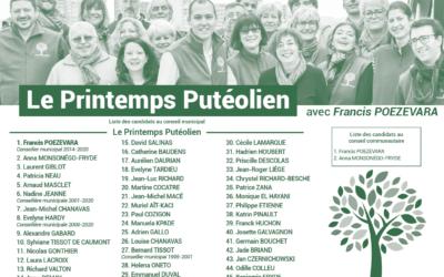 Dimanche 15 mars, votez pour le Printemps Putéolien !