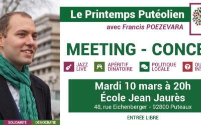 Meeting – Concert le 10 mars