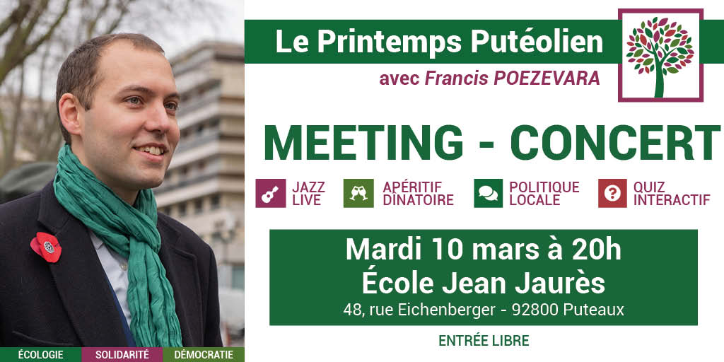 Meeting – Concert le 10 mars