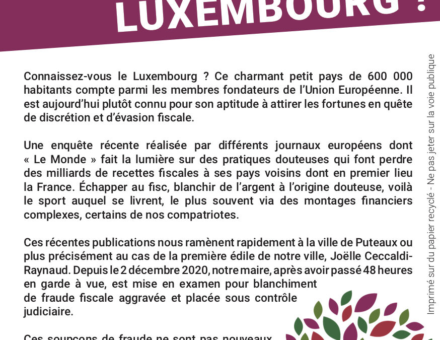 Connaissez-vous le Luxembourg ?